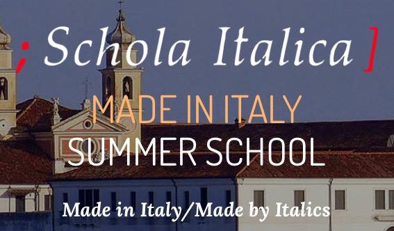 Nuova edizione della Summer School Made in Italy/Made by Italics