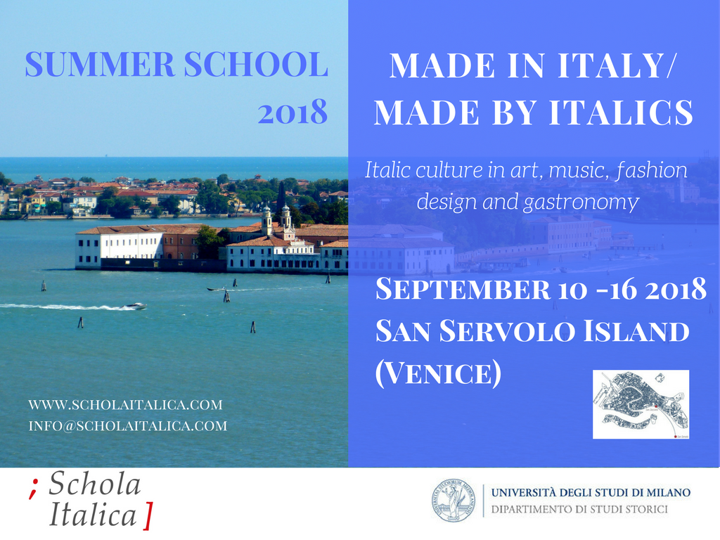 """Made in Italy/Made by Italics"": Summer school 2018"