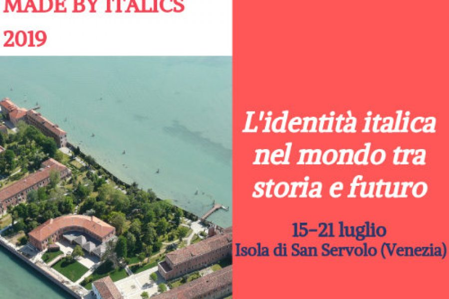"SUMMER SCHOOL ""MADE IN ITALY/MADE BY ITALICS"" EDIZIONE 2019"